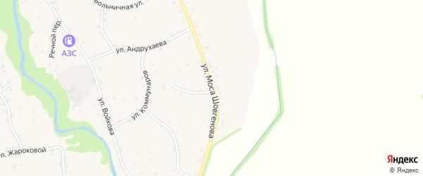 Улица Моса Шовгенова на карте аула Хатажукая с номерами домов