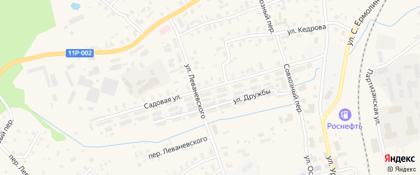 Садовая улица на карте железнодорожной станции Лепши с номерами домов