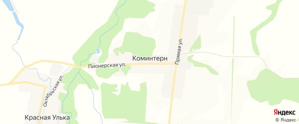 Карта хутора Коминтерна в Адыгее с улицами и номерами домов