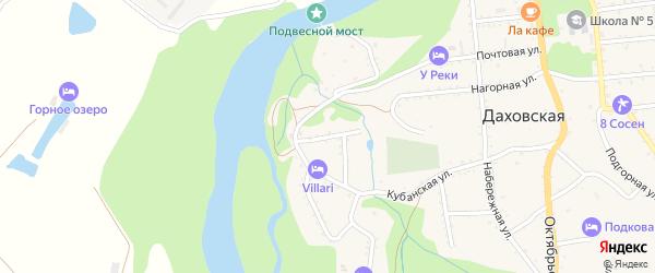 Западная улица на карте Даховской станицы с номерами домов