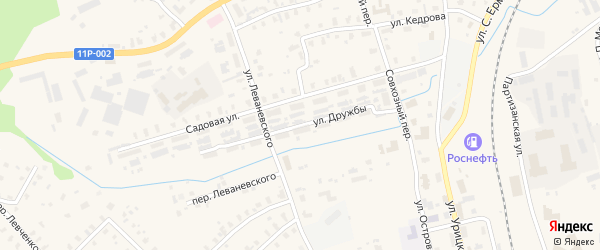 Улица Дружбы на карте Никоновской деревни с номерами домов
