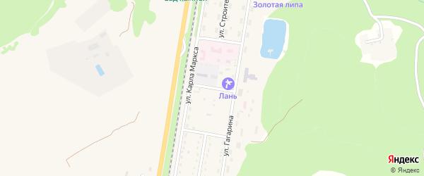 Парковый переулок на карте Каменномостского поселка с номерами домов
