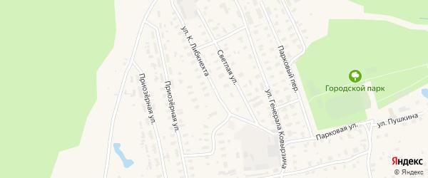 Улица К.Либкнехта на карте Няндомы с номерами домов
