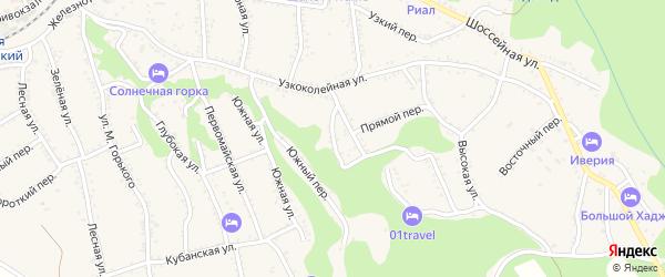 Луговой переулок на карте Каменномостского поселка с номерами домов