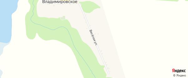 Веселая улица на карте Владимировского села с номерами домов