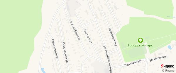 Светлая улица на карте Няндомы с номерами домов