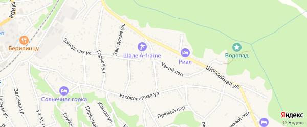 Широкий переулок на карте Каменномостского поселка с номерами домов