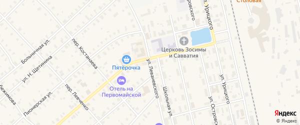 Улица Леваневского на карте Няндомы с номерами домов