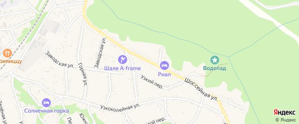 Шоссейная улица на карте Каменномостского поселка с номерами домов