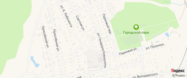 Светлая улица на карте садового некоммерческого товарищества Садоводы Севера сад N4 с номерами домов