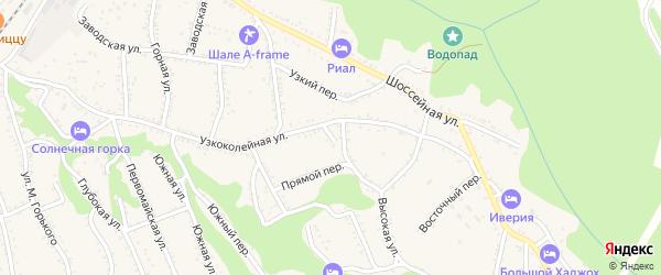 Родниковый переулок на карте Каменномостского поселка с номерами домов