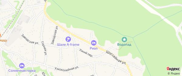 Северный переулок на карте Каменномостского поселка с номерами домов