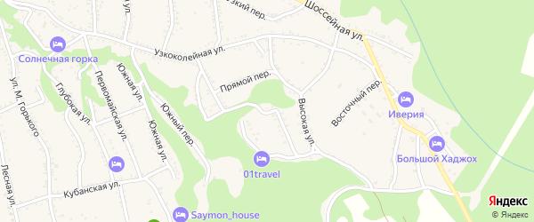 Безымянная улица на карте Каменномостского поселка с номерами домов