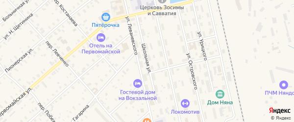 Школьная улица на карте Няндомы с номерами домов