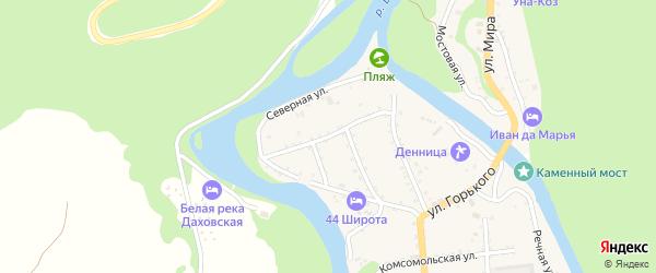 Пролетарская улица на карте Даховской станицы с номерами домов