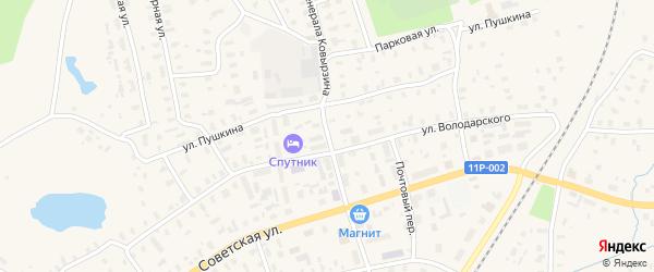 Улица Генерала Ковырзина на карте Няндомы с номерами домов