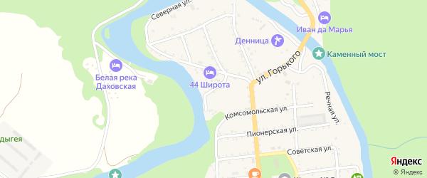 Виноградная улица на карте Даховской станицы с номерами домов