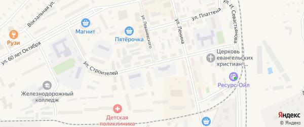 Улица Строителей на карте Няндомы с номерами домов