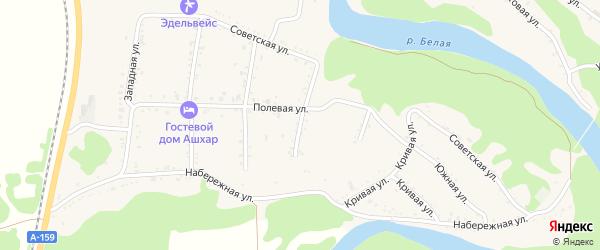 Малая улица на карте Абадзехской станицы с номерами домов