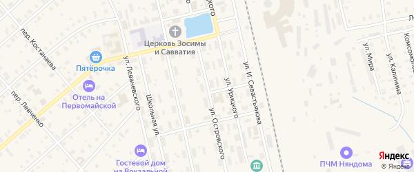 Улица Островского на карте Няндомы с номерами домов