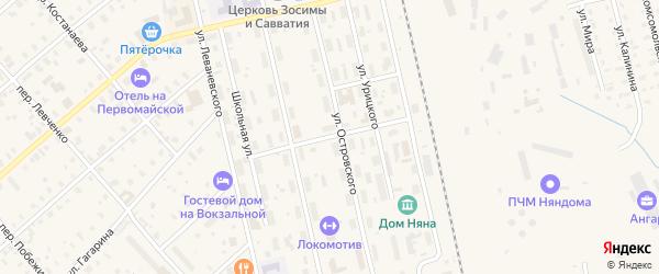 Ударный переулок на карте Няндомы с номерами домов