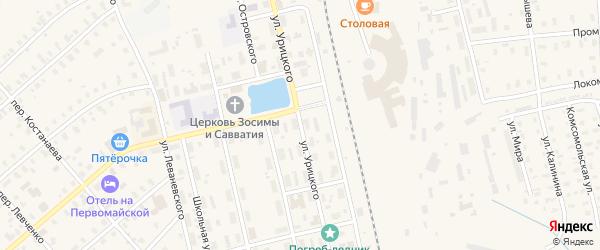 Улица Урицкого на карте Няндомы с номерами домов