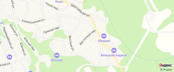 Восточный переулок на карте Каменномостского поселка с номерами домов