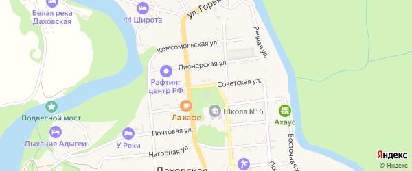 Советская улица на карте Даховской станицы с номерами домов