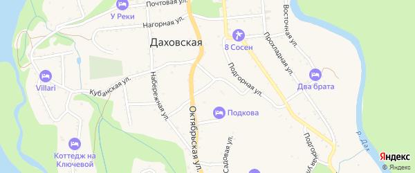 Колхозная улица на карте Даховской станицы с номерами домов