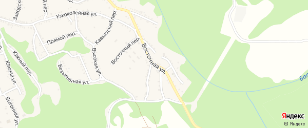 Восточная улица на карте Каменномостского поселка с номерами домов