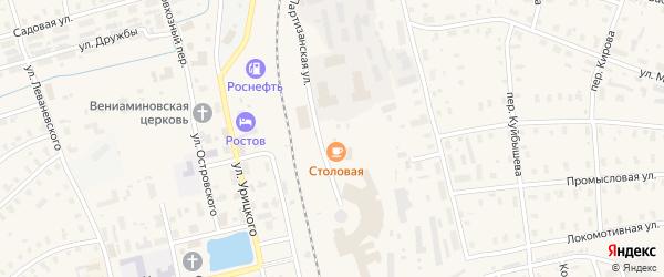 Переулок Боровского на карте Няндомы с номерами домов