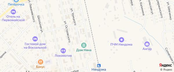 Улица И.Севастьянова на карте Няндомы с номерами домов