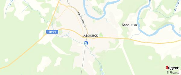 Карта Харовска с районами, улицами и номерами домов