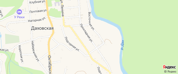 Прохладная улица на карте садового некоммерческого товарищества Пищевика с номерами домов