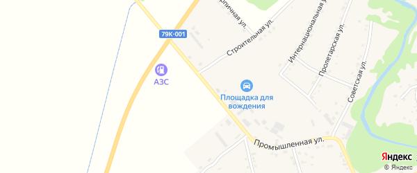 Советская улица на карте аула Мамхег с номерами домов