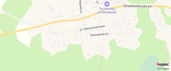 Карьерная улица на карте поселка Коноши с номерами домов