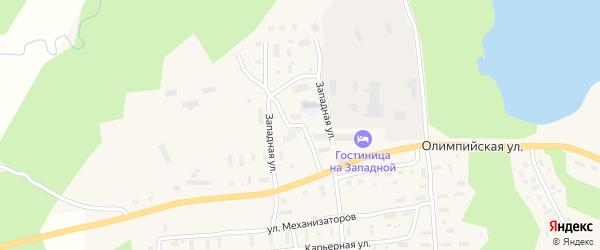 Западная улица на карте поселка Коноши с номерами домов