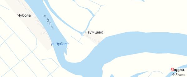 Карта деревни Наумцево в Архангельской области с улицами и номерами домов