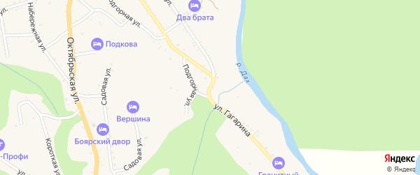 Улица Гагарина на карте Даховской станицы с номерами домов