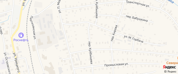 Переулок Куйбышева на карте Няндомы с номерами домов