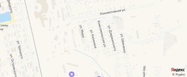 Улица Калинина на карте Няндомы с номерами домов