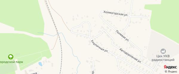 Кирпичная улица на карте Няндомы с номерами домов