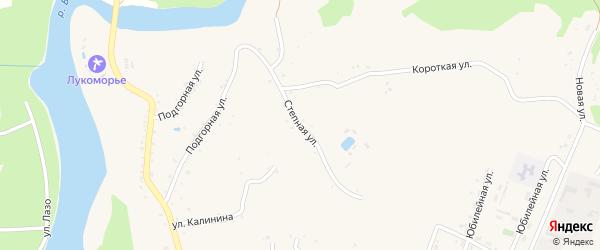 Степная улица на карте Абадзехской станицы с номерами домов