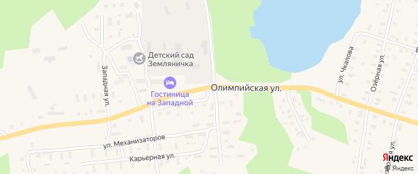 Олимпийская улица на карте поселка Коноши с номерами домов