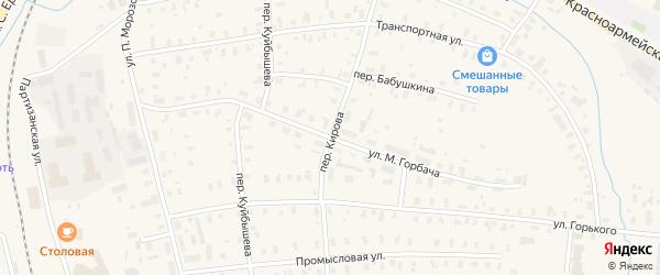 Улица М.Горбача на карте Няндомы с номерами домов