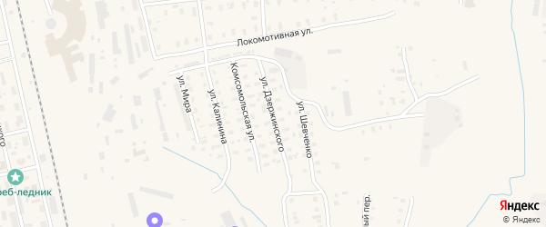 Улица Дзержинского на карте Няндомы с номерами домов
