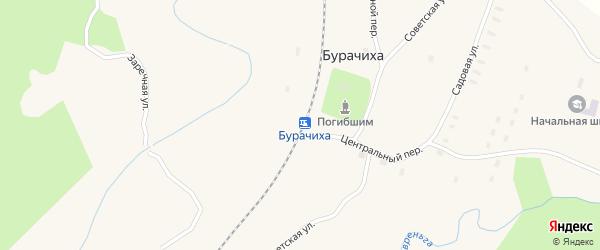 Биржевый переулок на карте железнодорожной станции Бурачихи с номерами домов