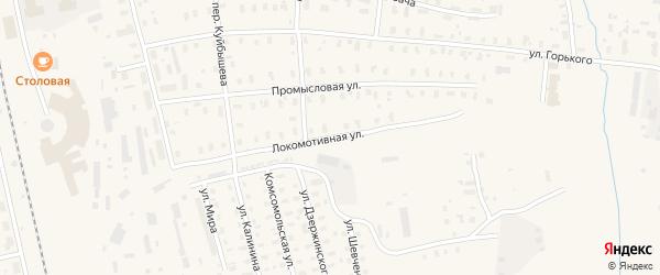 Локомотивная улица на карте Няндомы с номерами домов