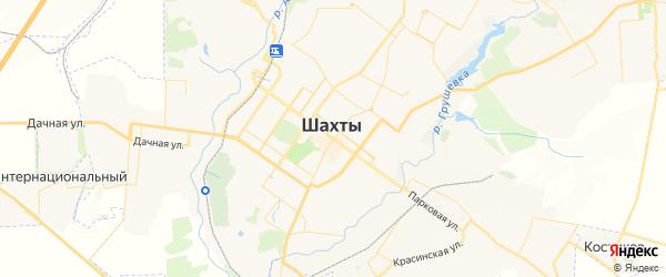 Карта Шахт с районами, улицами и номерами домов