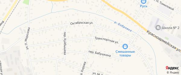 Транспортная улица на карте Няндомы с номерами домов